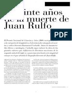 Carballo, Enmanuel - A veinte años de la muerte de Juan Rulfo