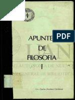 APUNTES DE FILOSOFIA I UAN
