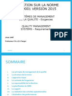 Formation Norme ISO 9001 V 2015-Etudiant