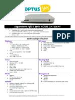 Sagem F3864 Datasheet
