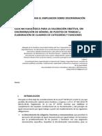 OBLIGACIONES PARA EL EMPLEADOR SOBRE DISCRIMINACI+ôN