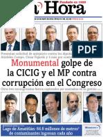 Guatemala MP y CICIG dan golpe al congreso