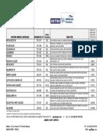 UNITOR MARINE CHEMICALS PRICE LIST 2014