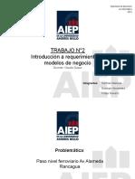 Trabajo N°2 Requerimiento y modelo de negocio