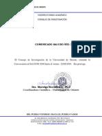 COMUNICADO SAI-UDO  002-2019