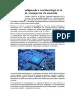 Impacto estratégico de la nanotecnología en la sociedad