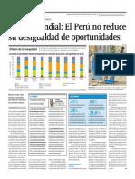 Peru No Reduce Su Desigualdad de Oportunidades