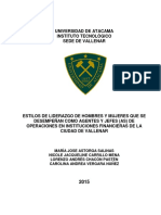 Estilos de Liderazgo de Hombres y Mujeres que se Desempeñan como Agentes y Jefes (as) de Operaciones en Instituciones Financieras de la Ciudad de Vallenar-1