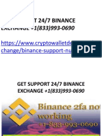 Binance Customer Support +1(833)993-0690