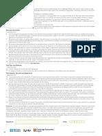 IELTS Declaration Page