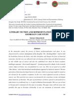 Literary Fiction and Representation of History- Georgian Case Study