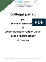 Solfeggi parlati per l'esame di ammissione al Liceo musicale di Bologna(1)