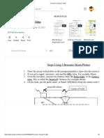 Procedure Using UT Slide