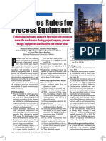 Rules of thumb for Process Equipment