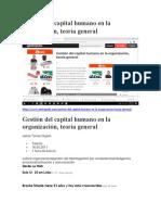 Gestión del capital humano en la organización