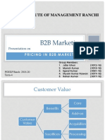 Pricing Strategy in B2B Marketing
