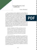 T. Albaladejo. Censura como interferencia y como modificación, en Revista Despalabro VI 2012 págs.305-309
