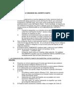 LA COMUNIÓN DEL ESPÍRITU SANTO