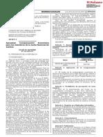 Decreto Supremo que aprueba la compensación económica para JNJ