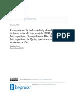 Comparación de la diversidad y abundancia de avifauna entre el Campus de la UIDE y el Parque Metropolitano Guanguiltagua, Distrito Metropolitano de Quito, y recomendaciones para su conservación