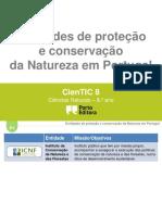 CienTic8- P1 Entidades de Proteção e Conservação Da Natureza Em Portugal