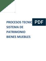 PROCESOS TECNICOS  PATRIMONIO BIENES MUEBLES
