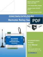 RTU5020~RTU5022 GSMSMSGPRS3G4G Remote Switch Controller V1.3