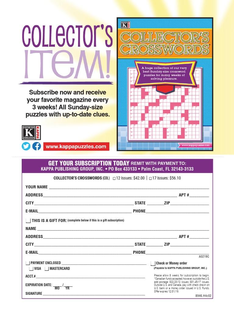 Games World Of Puzzles June 2019 Pdf Crossword Leisure
