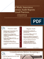 Guidelines for Forensic Audit