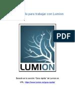 Guía rápida para trabajar con Lumion