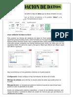 TALLER 3 VALIDACIÓN DE DATOS y FORMATO CONDICIONAL