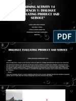 Evidencia 1 Dialogue Evaluating product and service