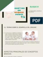 3.1 Teorías sobre el desarrollo del lenguaje