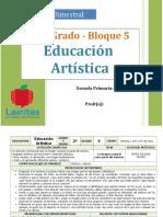 Plan 2do Grado - Bloque 5 Educación Artística