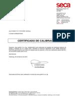 Certificado calibración Tarrillo 2019