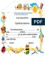 diploma gradinita