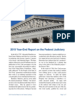 Chief Justice Roberts' End of Year Report