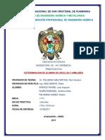 Informe N°  determin. de aluminas