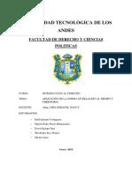 TRABAJO DE INTRODUCCION APLICACION DE LA NORMA ESPACIO Y TIEMPO