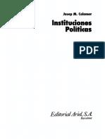 Colomer Josep - Instituciones Políticas.pdf