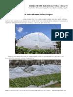 Glass Greenhouse Advantages