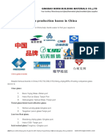 Glass Production Bases in China