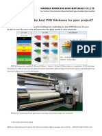 How to Confirm the Best PVB Thickness for Your Project