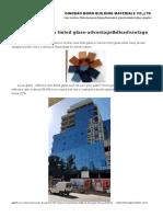 Low e Coating on Tinted Glass-Advantage&Disadvantage