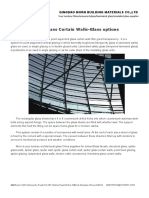 Spider Glass Curtain Walls-Glass Options