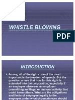 Whistle Blowing Presentation