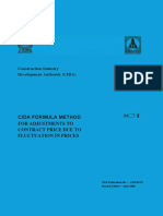 CIDA FORMULA METHOD FOR ADJUSTMENTS TO CONTRACT PRICE DUE TO FLUCTUATION IN PRICES