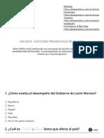 Encuesta - Elecciones Presidenciales de Ecuador