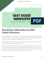 kicker 10c124 - kicker 40cwr122 - best kicker subs