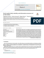 Stock market daily volatility and information measures of predictability